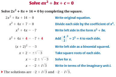 17 algebra 2 study site function is yax hk where hk is the vertex of the functions graph to write a quadratic function in vertex form use completing the square ccuart Image collections